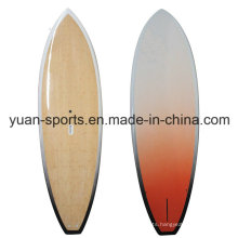 Customized Stand up Paddle Surfboard with Bamboo Veneer Surface